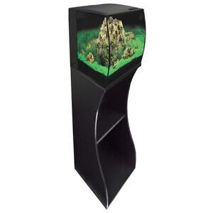 Fluval Flex 57L Black LED Aquarium & Cabinet/Stand Nano Fish Tank with Filter