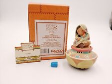 """Enesco Friends of the Feather """"Love Mom & Child"""" w/ Box & Rock Great Condition"""