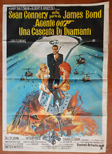 genuine poster 007 UNA CASCATA DI DIAMANTI 2F 1971 Sean Connery James Bond