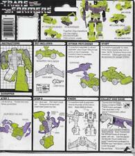 Transformers Original G1 1985 Constructicon Scrapper Instructions Card