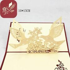Laser Cut Cards Wedding Anniversary Gifts Greeting Card With Envelope Postcards