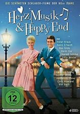 Herz, Musik & Happy End - Peter Kraus, Rex Gildo, Heinz Erhardt,  4 DVDs
