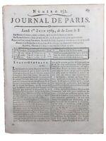 Rare États Généraux 1789 Château de Rambouillet Tessier Desquille Sageret