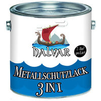 Halvar hochwertiger 3 in 1 Metallschutzlack Grau 2,5L 5L 10L RAL 7032 Kieselgrau