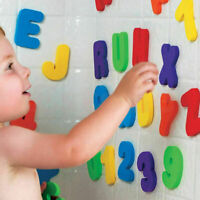 36Pcs Baby Bath Play Toys Letters Numbers Floating Foam Kids Children Bathroom