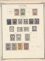 salvador stamps page ref 17172