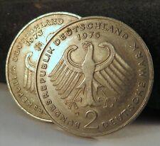 LOT (2) Germany 2 Two Deutsch Mark Coins 1973-J 1976-D DEM Munich Hamburg