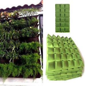 Vertical garden Fruit Grow Bags wall Hanging 9 36 72 pockets fabric Planting Pot