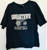 Georgetown Hoyas XLARGE Blue Cotton TSHIRT Basketball Vintage Colosseum