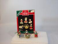 Hallmark Set of 6 Miniature Keepsake Ornaments 1992 Sew Sew Tiny - #QXM5794-DB