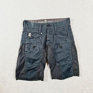 G STAR RAW Mens Black Blue Casual Cargo Shorts Size 27