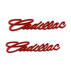2x Red Car Fender Rear Trunk Lid Cadillac Emblem for CTSV ATSL SRX XTS Escalade