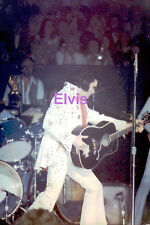 ELVIS PRESLEY WITH CAPE RED SCARF & GUITAR DAYTON OH 4/6/72 PHOTO CANDID