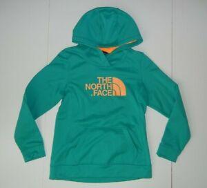 THE NORTH FACE Bright Teal/Orange HOODIE SWEATSHIRT Warm Hiking Gym Sz Women's M