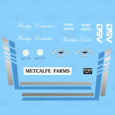 METCALFE FARMS (MODERN) HEAVY HAULAGE CLASSIC DECAL SET 1:50 SCALE
