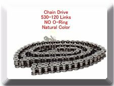 Natural Color 530-120 Link  (No O-ring) Chain Motorcycle Harley Sportster Dyna