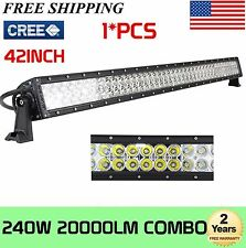 42INCH 240W CREE LED LIGHT BAR SPOT FLOOD OFFROAD 4WD CAR TRUCK SUV DRIVING LAMP