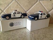 Kettering Ohio Police Department Pair Of Cruisers. 96 Crown Vic 98 Interceptor