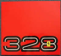 FERRARI 328 GTB & GTS Sales Brochure Feb 1988 #394/85