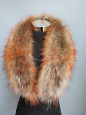 100% real raccoon fur collar / wrap/ scarf jacket collar tri-colored collar 80cm