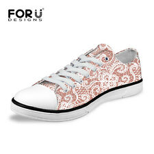 New Fashion Lady Women's Casual Canvas Sneakers Lace Up Shoes Low Top Shoe