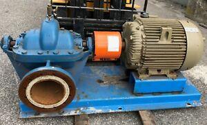Peerless 100 HP 10AE12 HORIZONTAL SPLIT CASE PUMP w/GE Energy Saver motor