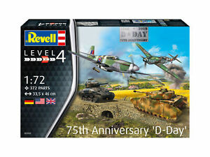 75 Years D-Day Set 1:72 Plástico Modelo Kit 03352 Revell