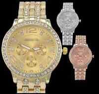 Women Lady Watch Dial Crystal Rhinestone Fashion Quartz Wrist Watch 3 COLOR