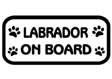 Labrador On Board Car, Van sticker, decal paw prints
