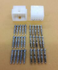 """NEW 1 Pair of 15 Circuit Molex 0.062"""" Male and Female Connectors with Pins"""