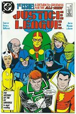 JUSTICE LEAGUE #1 DC May 1987 NM+ 9.6 1st App MAXWELL LORD WONDER WOMAN 1984 B/O
