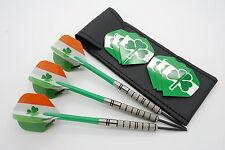 24g Tungsten Dart set 'SHAMROCKS' Standard Ireland flights,nylon shafts