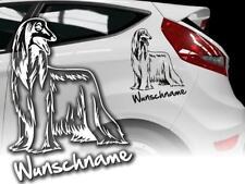 Auto Aufkleber Hundeaufkleber Afghanischer Windhund Afghane Afgahne