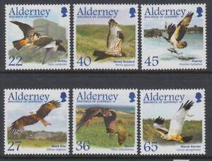 Alderney #Mi188-Mi193 MNH CV€9.00 2002 Birds Raptors [185-190]
