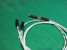 1.5' SILVER PLATED MIL-SPEC AUDIOPHILE INTERCONNECT FOR DIN AMPLIFIER RCA CABLE.