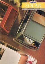 Fiat Panda Uno Regata Solar Limited Edition 1987 UK Market Sales Brochure