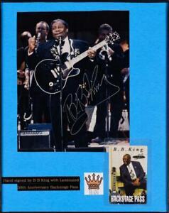 "Blues Legend BB King Framed Autographed Photo + Backstage Pass  11"" x 14"""