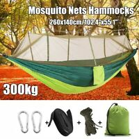 Outdoor Double Mosquito Net Hammock Tent Nylon Camping Hanging Bed Swing Chair