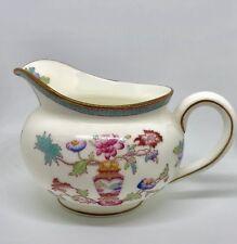 Vintage Royal Doulton Creamer Pink Blue Floral Center Vase 1904-1927 England