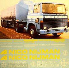 Scania Trasportatore vetro Nico Nijman Pilkington AB di float 1:87 Decalcomania