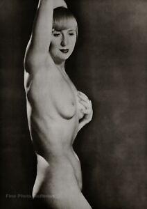 1929/75 Vintage MAN RAY Female Nude SUZY SOLIDOR Art Deco Photo Engraving 12x16