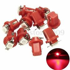 10X T5 B8.5D Car Gauge 5050 1 SMD LED Dashboard Side Lights Bulbs Indicator Red
