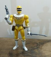 """Vintage 1996 Power Rangers Zeo 8"""" Yellow Zeo Ranger II Complete"""
