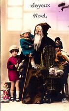 A210) Nikolaus mit Kindern und Geschenken Teddybär