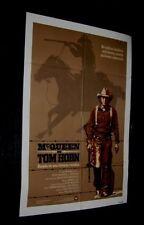 Original TOM HORN rare US printed Spanish O/St 27x41 STEVE McQUEEN Different Art