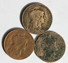 3 PIECES EN BRONZE - FRANCE - 10 CENTIMES - MARIANNE DE DUPUIS - 1904 - 12 ET 16