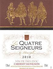 Etiquette de vin - Wine Label - Les Quatre Seigneurs de Moncigale - 2010