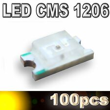 107/100# LED CMS 1206 Jaune 160mcd - SMD yellow -100pcs
