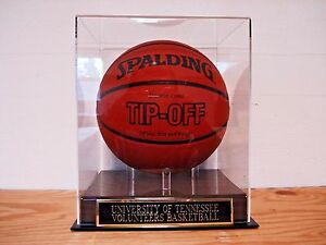 Tennessee Volunteers Basketball Display Case With An Engraved Nameplate