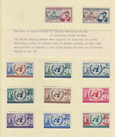 Republic Maluku Selatan - 11 stamps on album page - Mounted mint